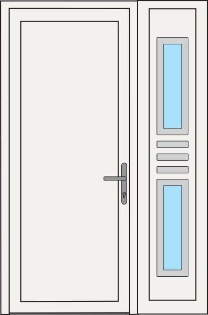 Konstruktive Varianten der Eingangstüren aus PVC